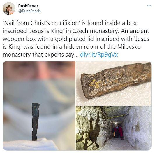 Nail from Christ's crucifixion