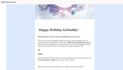 GoDaddy Phishing Email