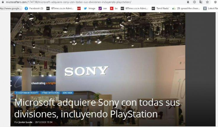 Microsoft acquires Sony with all its divisions, including PlayStation: 3 Reasons Why it is not TRUE