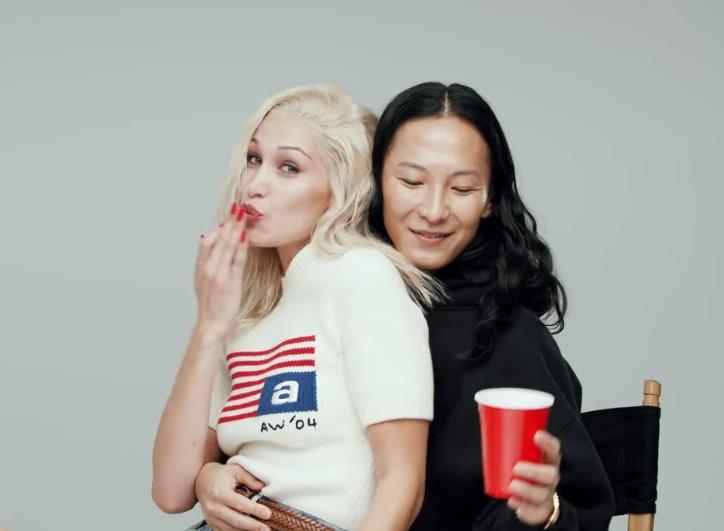 Alexander Wang with Bella Hadid