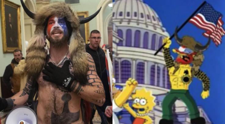 Simpsons prediction of Jake Angeli