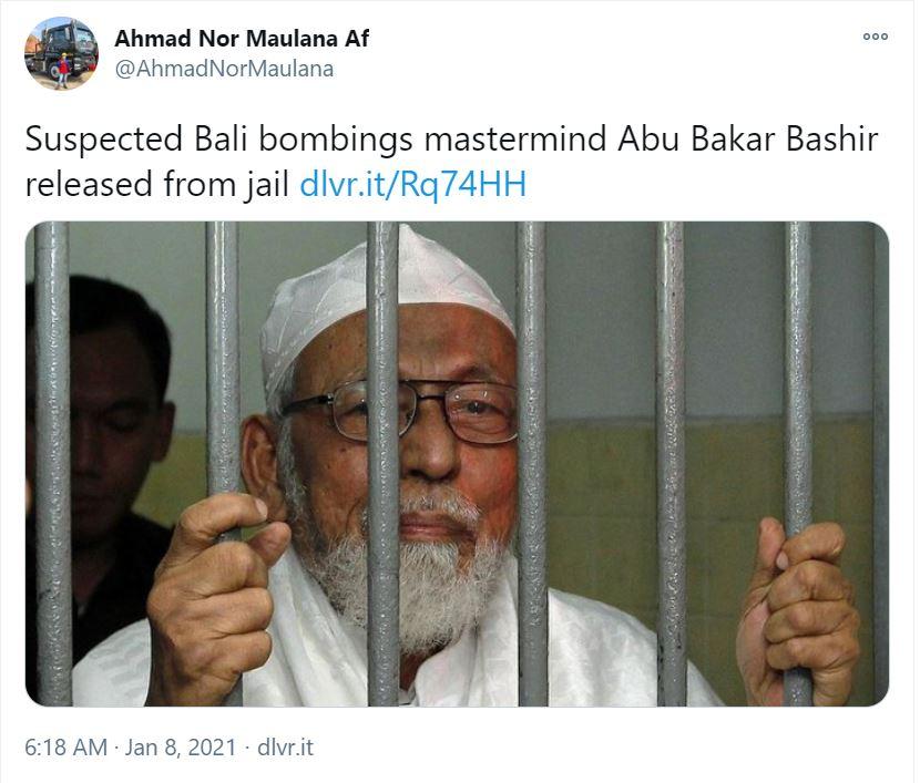 Indonesia frees radical cleric