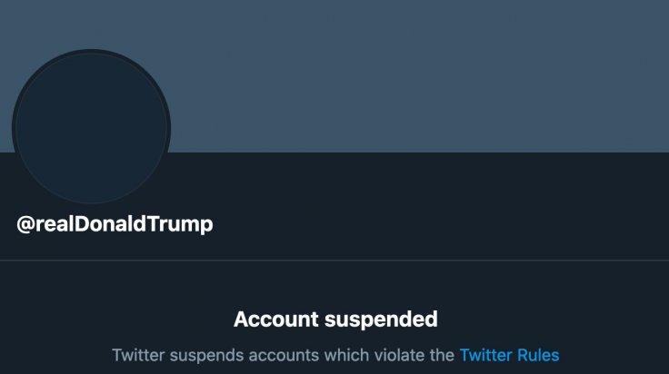 Trump account suspended