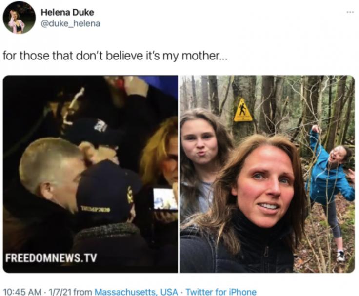 Helena Duke's tweet