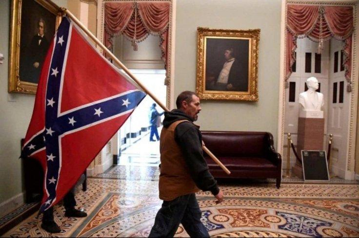 Confederate flag guy