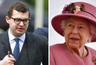 Simon Bowes-Lyon and Queen Elizabeth II