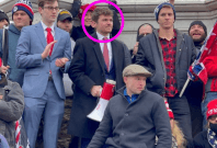 Nick Fuentes outside the Capitol