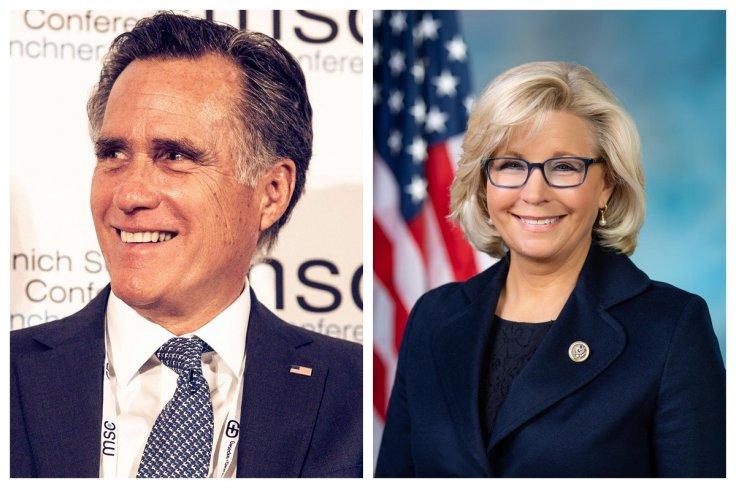 Mitt Romney and Liz Cheney