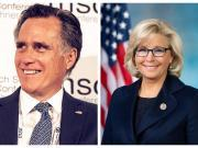 Mitt Romney and Liz Cheney