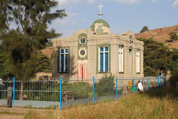 Building supposedly containing the Ark of the Covenant at Maryam Sion church in Aksum Ethiopia
