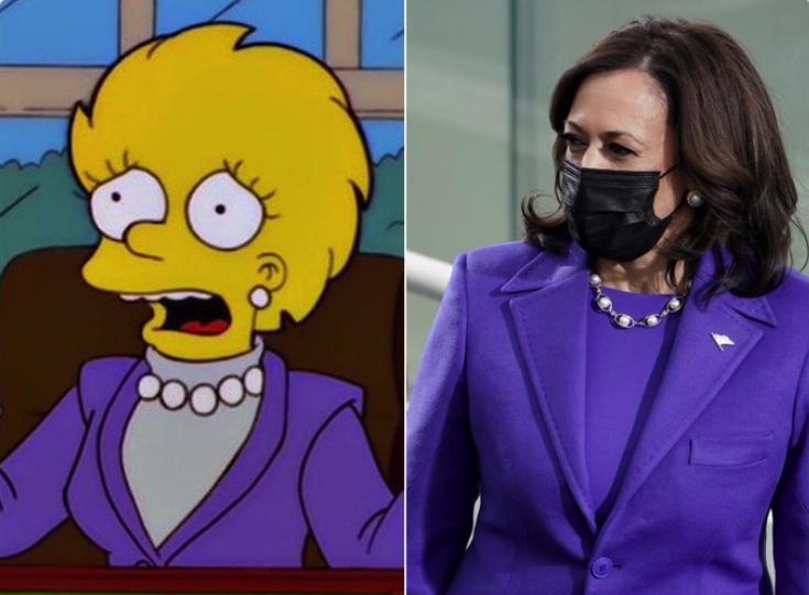 The Simpsons prediction of Kamala Harris