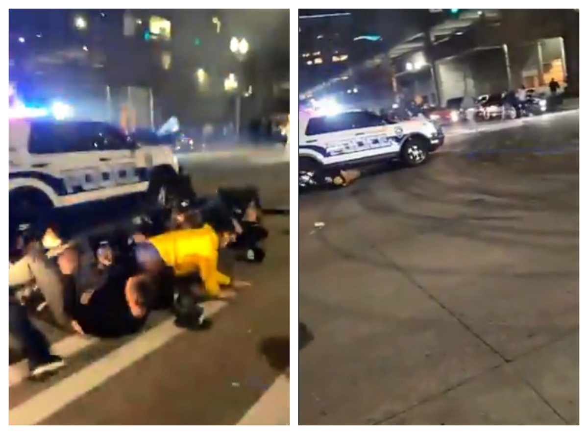 US Police Car Plows Through Crowd Watching Street Race, 1 Injured