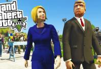 GTA 5: donald trump vs Hillary Clinton Easter eggs