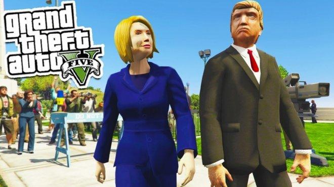 GTA 5: donald trump vs Hillary Clinton Easter eggs