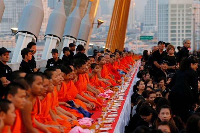 Thais celebrate late King Bhumibol's birthday by mass gathering