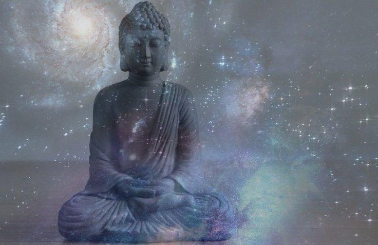 Buddha temple in Space