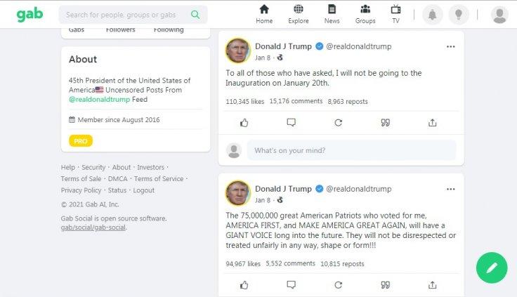 Trump Gab