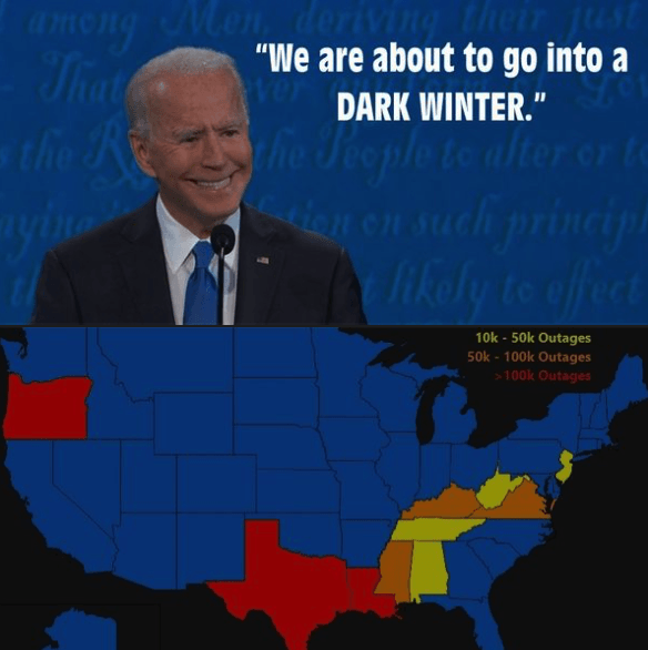 Biden Dark Winter conspiracy theory