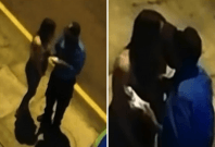 Peru police officer caught kissing woman