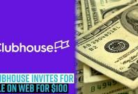 clubhouse-invites-for-sale-on-web-for-100
