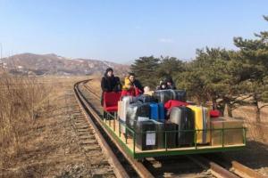 Vladisov Sorokin had to push the trolley about 1 kilometer.