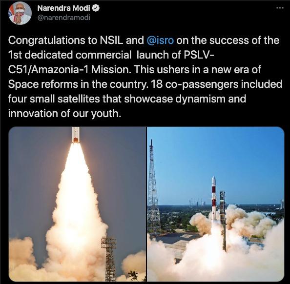 ISRO puts Brazilian Amazonia-1 satellite in orbit