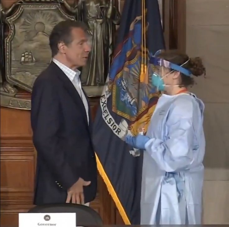 Andrew Cuomo with doctor