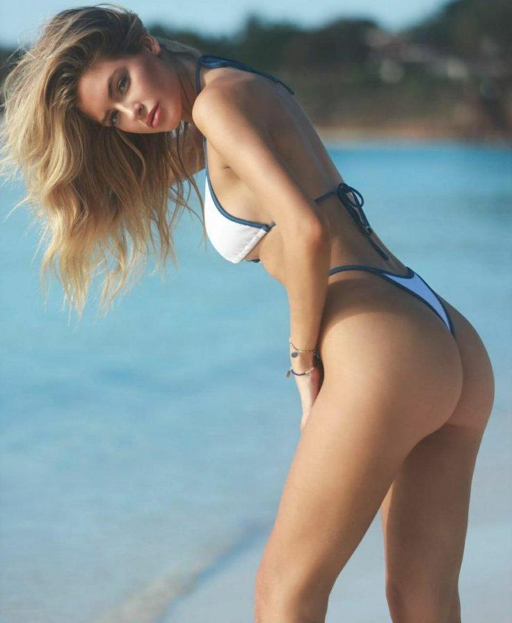 Hannah Plamer Stuns in White Swimsuit