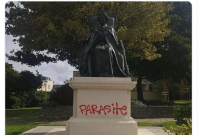 Queen Elizabeth statue vandalized