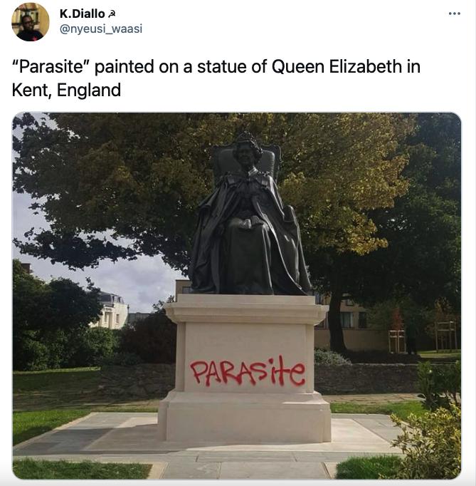 Queen Elizabeth statue vandalized
