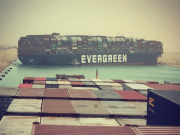 Evergreen container ship