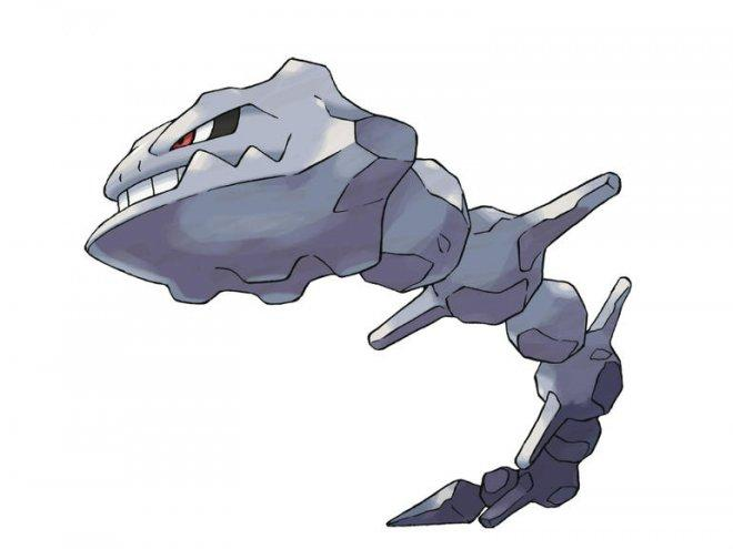 Onix evolves into Steelix