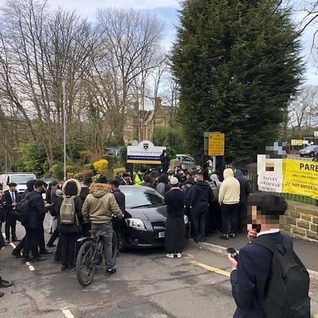 Muslims Protest in Batley Grammar School overProphetMohammedCartoons