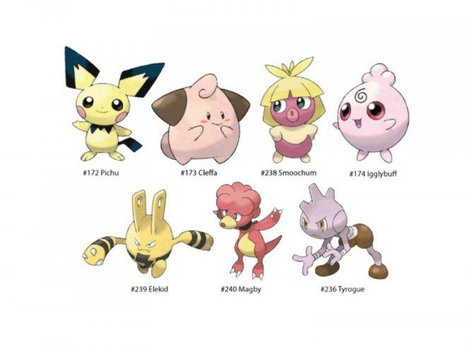 Pre-evolution baby Pokemon