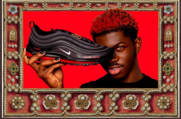 Lil Nas X endorsing Satan shoes