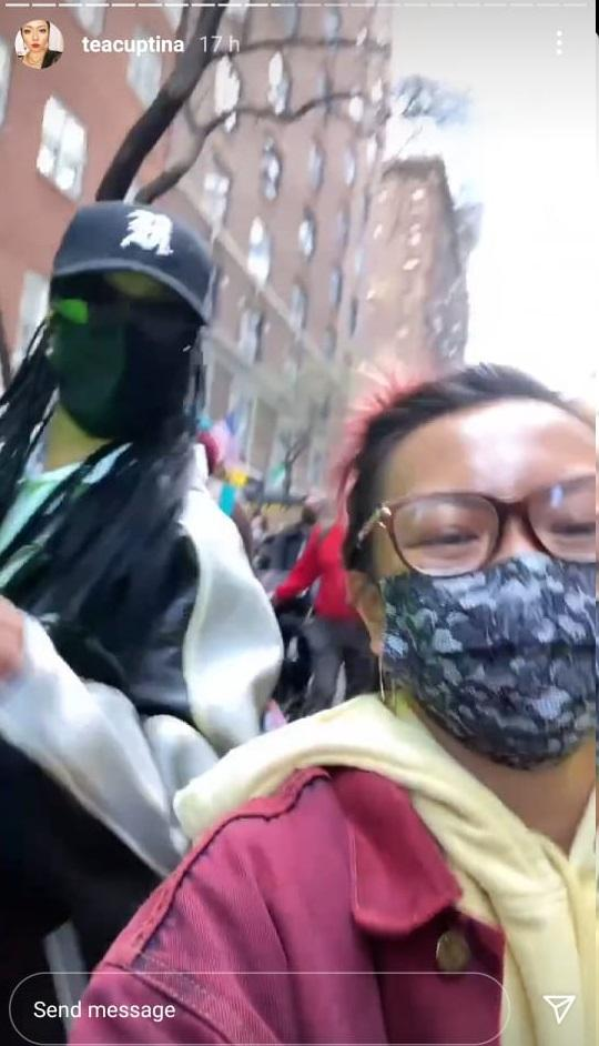 Rihanna joins Stop Asian Hate rally NYC