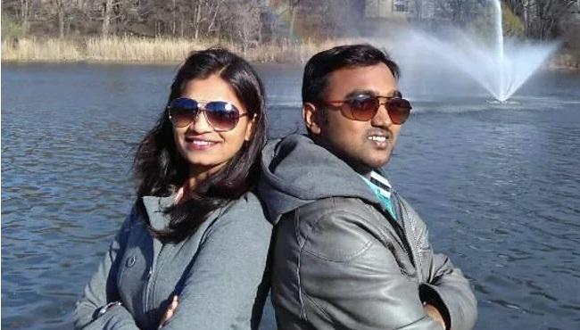 Balaji Bharat Rudrawar and wife Arati