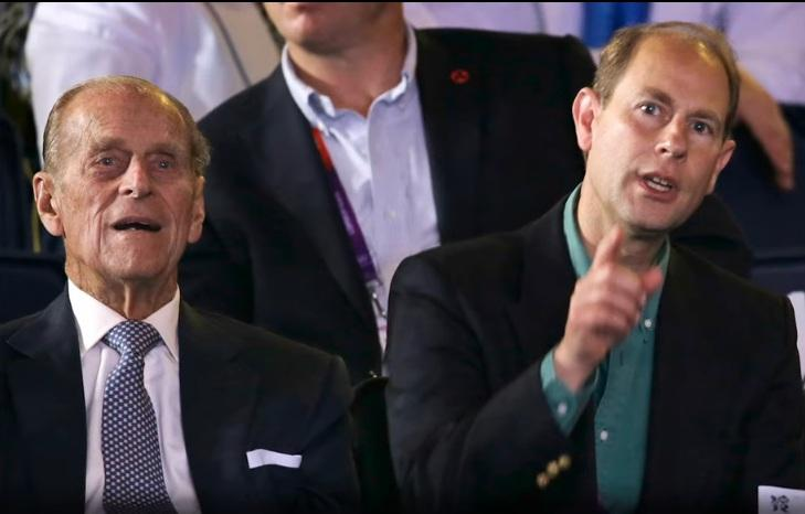 Prince Philip with Prince Edward