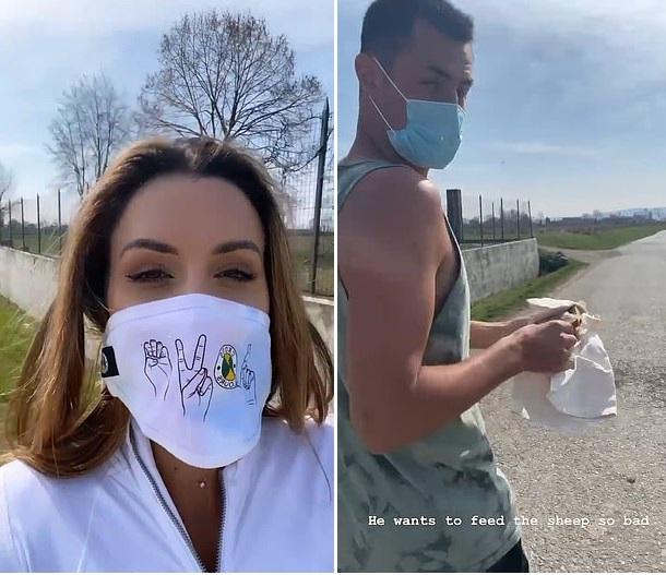 Vanessa Sierra boyfriend Bernard Tomic FaceMask Italy