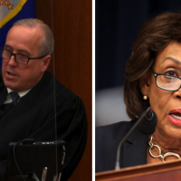 Judge Peter Cahill and Rep. Maxine Waters