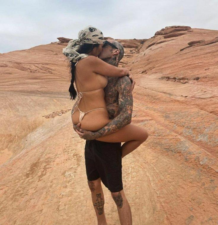 Kourtney Kardashian and Travis Barker