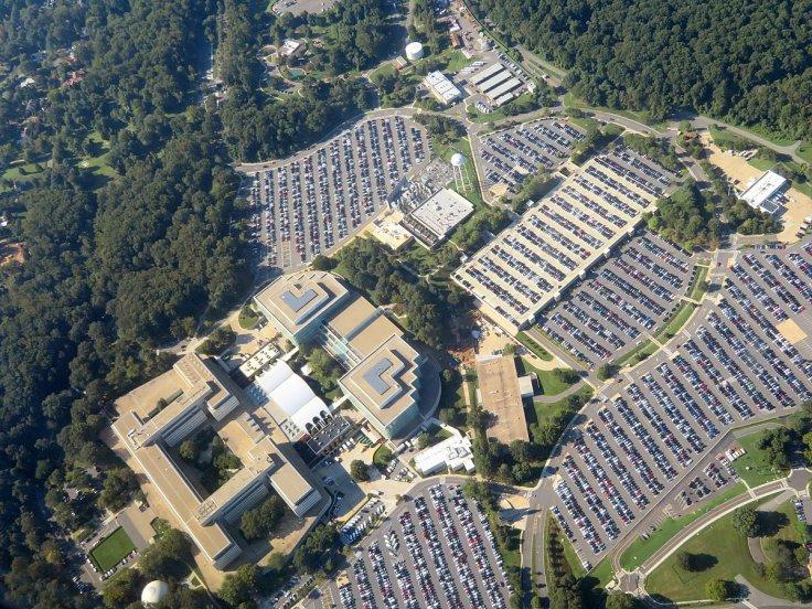 Aerial view of CIA headquarters, Virginia