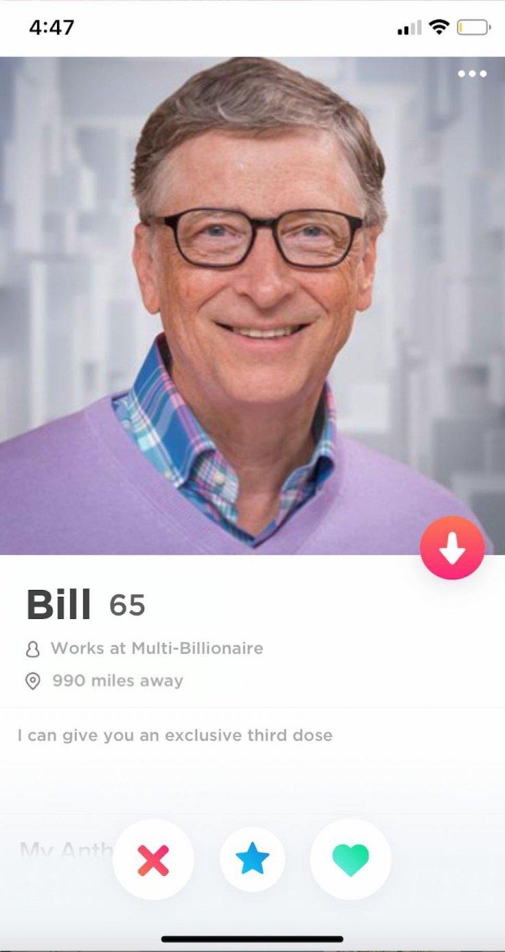 Bill Gates Profile on Dating App Tinder