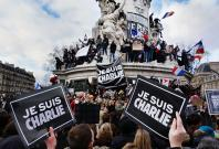 Paris rally in support of the victims of the 2015 Charlie Hebdo shooting, 11 January 2015. Place de la Republique.