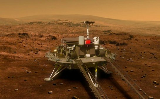 China's Zhurong Rover lands mon Mars