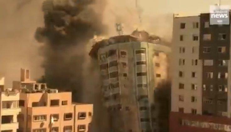 AP office airstrike