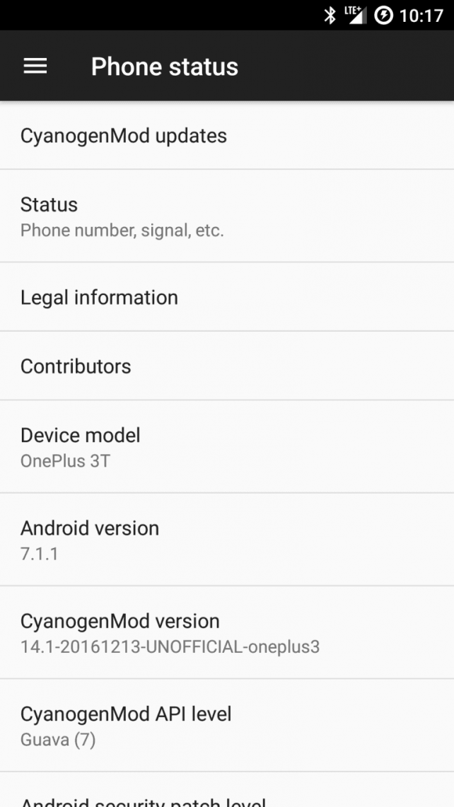 OnePlus 3T Android 7.1.1 Nougat update
