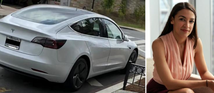 Alexandria Ocasio-Cortez's Tesla