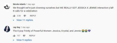 Jessica video comments