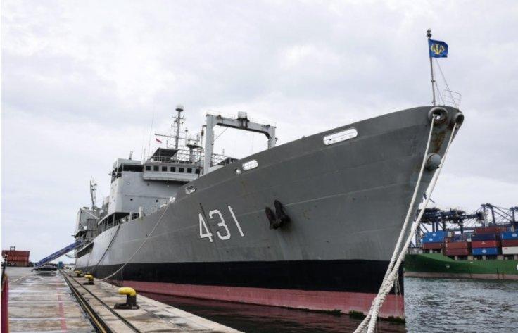 Iranian Navy WarShip Sinks